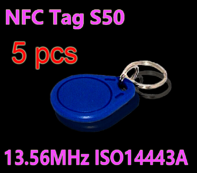 цены 5pcs/Lot RFID Tag 13.56MHz S50 NFC Tags Key Tags Keyfobs Token Re-writable NFC Tag Keychain For Access Control System