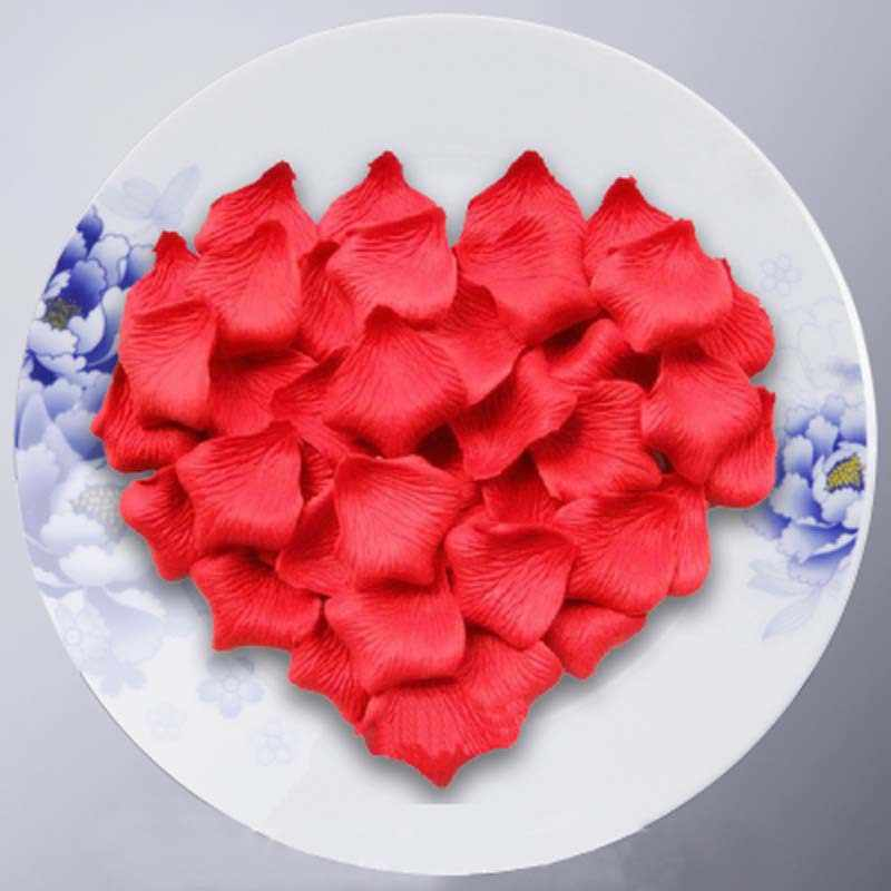 1000 Pcs Zijde Romantische Kunstmatige Rose Petal Diy Nep Blad Bloem Voor Wedding Party Home Decoration 6ZSH012