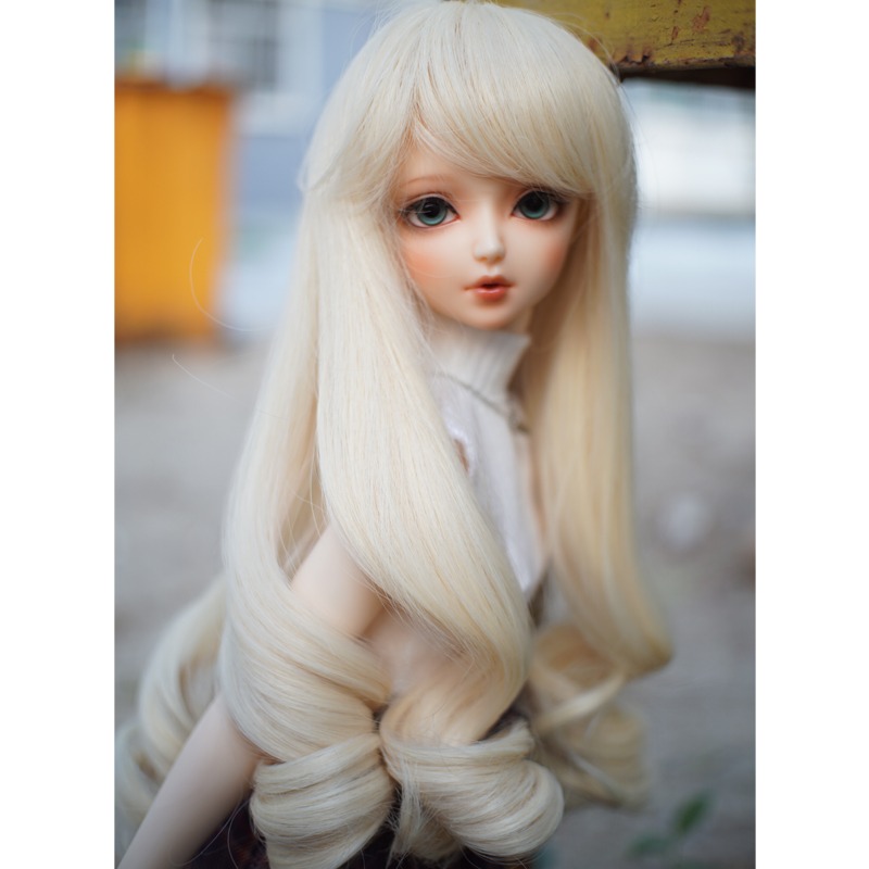 Big Wave Rome curly BJD light blonde color doll wig high temperature 1/3 1/4 BJD doll hair
