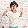 Frete Grátis! original projetado premium 100% algodão jersey com gato dos desenhos animados impressão de manga curta camiseta do menino. exclusivo!