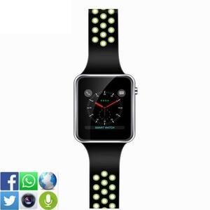 Image 2 - Bluetooth Smart часы M3 с Камера Facebook Whatsapp Twitter Синхронизация SMS Smartwatch Поддержка SIM карты памяти для IOS Android