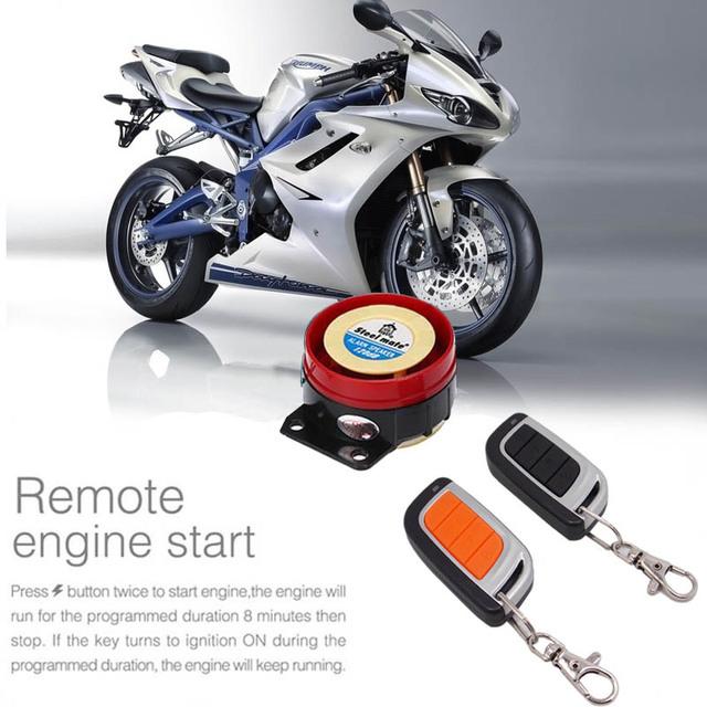 12 v alarme moto moto bicicleta de segurança anti-roubo sistema de alarme de partida do motor de controle remoto + alarme moto falante para honda