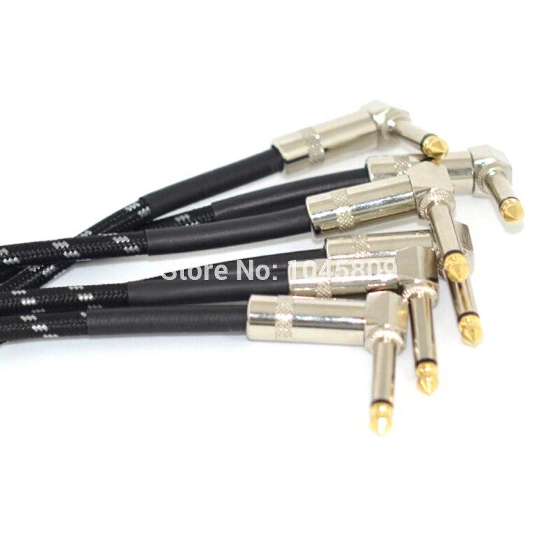 6 Unids 21 cm Pedal Cable Parche Ángulo Mono Efectos de Guitarra - Instrumentos musicales - foto 4