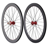 700c disc wheelset carbon road bicycle wheels 50mm clincher cyclocross disc wheel UD matt front 28 rear 28 spoke holes 50C