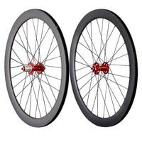 700c disc wheelset carbon road bicycle wheels 50mm clincher cyclocross disc wheel UD matt front 28 rear 28 spoke holes 50C