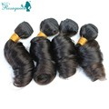 4 Pcs Indian Bouncy Curly Human Hair Bundles 7A Raw Indian Virgin Hair Indian Bouncy Curly Hair Weaves Soft Curly Human Hair