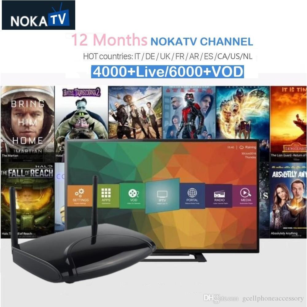 100% Waar Iptv Box R2 Met 1 Jaar Noka Iptv Live Tv + Vod Android Apparaten 12 Maanden Iptv Box Een Lang Historisch Aanzien Hebben