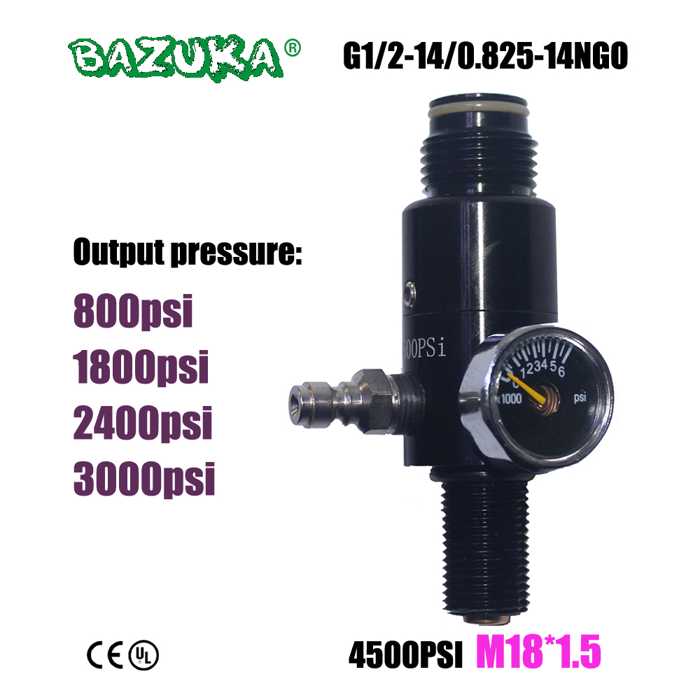 New Paintball Air Gun Airsoft PCP Air Rifle HPA 4500psi Compressed Air Tank Regulator Valve Output Pressure M18*1.5