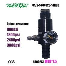 新ペイントボールエアガンエアガン PCP エアライフル HPA 4500psi 圧縮空気タンクレギュレータバルブ出力圧力 M18 * 1.5