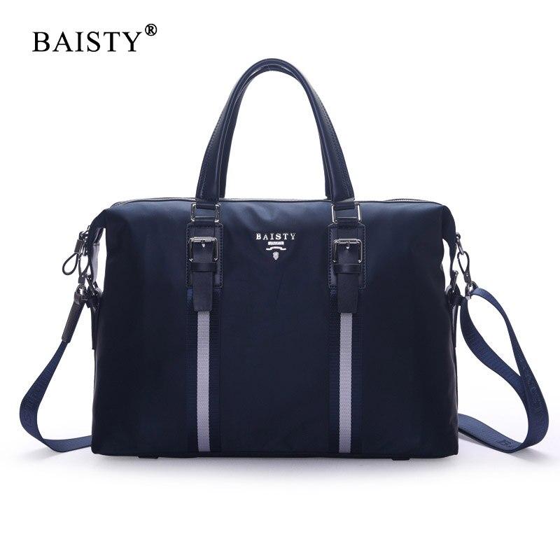 BAISTY Brand 2017 New Men's Fashion Shoulder Bag Waterproof Oxford Man Zipper Messenger Bag Black Blue Solid colour Casual Bag