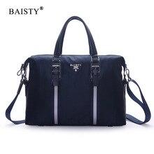 Baisty Новинка 2017 Мужская мода сумка Водонепроницаемый Оксфорде молнии сумка цвет: черный, синий однотонная Повседневная сумка