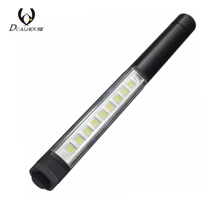 Mini Work Penlight Portable LED Flashlight Torch Magnetic Penlight Lamp 3*AAA Inspection Light For Outdoor Camping a113