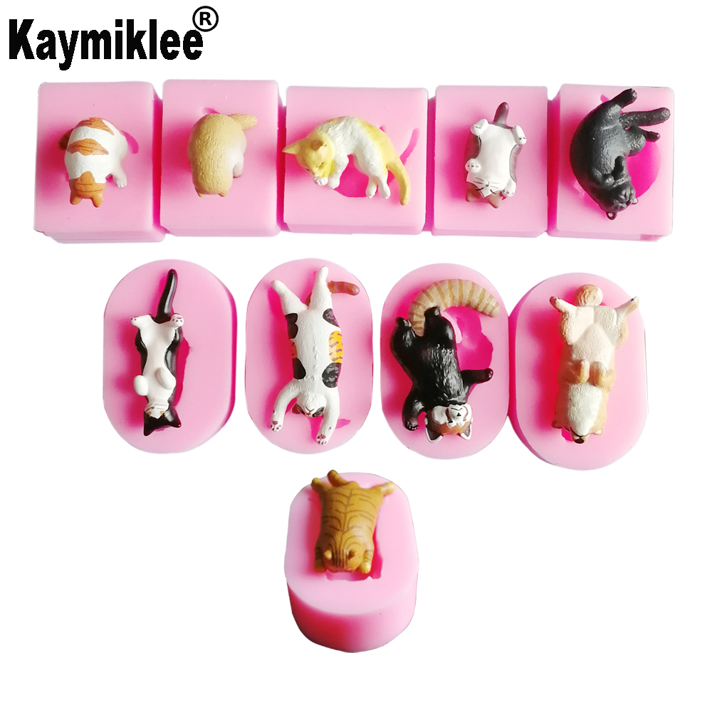 10 NEW Cats & Dog Silicone Mold Fondant Mould Cat Butt Corgi Bulldog Chocolate Gumpaste Sugarcraft Cake Decorating Tool C373