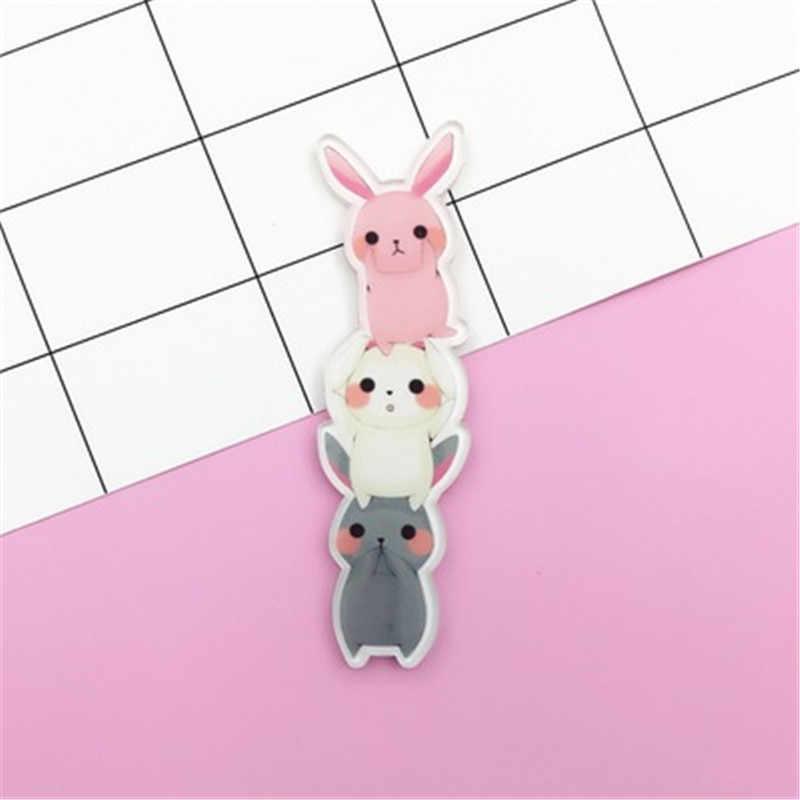 FFFPIN брошка мультфильм Забавный жираф кролик кот собака контакты значки с животными для девочек Японии ювелирные изделия в стиле Harajuku рюкзак аксессуары Орнамент