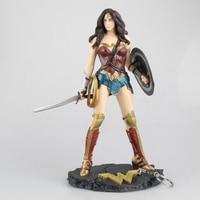 Anime figure Wonder Woman figure toys doll 26cm justice League Wonder Woman Statue Collection Model Action Figure Toys