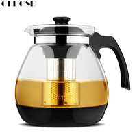 GFHGSD 1.6L/2.3L Teapot Fashion Glass Teapot Pro Design for Tea Flower with Removable Steel Infuser Filter Premium Tea Kettle