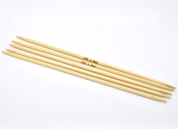 4mm Knitting Needles Us Size : Hoomall 5PCs Bamboo Knitting Needles Double Points Sewing Tools (US Size 6/4m...