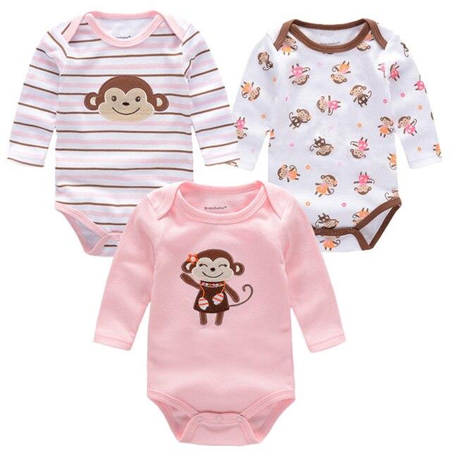 9f52da57d Monos del bebé Baby Body Set Niñas niños Mono Infantil de Manga Larga Body  Ropa Para