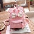2016, Лето, новый женская сумка качество pu кожа женщины сумку милые рюкзаки Животных уши сладкий лук Колледж Ветер мини-рюкзак XA764B
