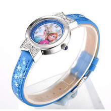 Disney brand Frozen Children's watches girls 30m waterproof quartz watches MIYOTA Citizen movement Anime Cartoon Diamond