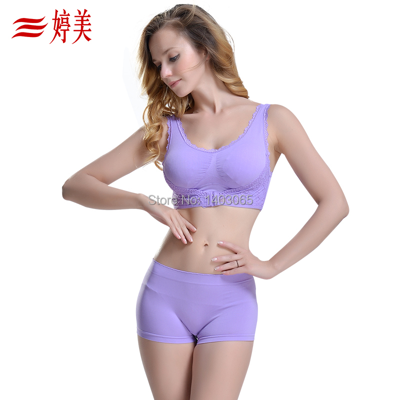 2014Vest design wireless push underwear tube top lace decoration young girl seamless sports bra set  -  Love & Angel store