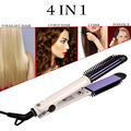 Ckeyin 2.5m Cable 4 in 1 Multi-function curling iron brush hair curler comb electric hair straightening iron Salon styling tools