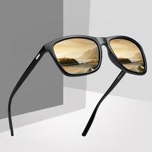 Gafas de sol de diseño de marca para hombre y mujer, lentes de piloto TR90, lente espejo polarizado, clásicas, UV400