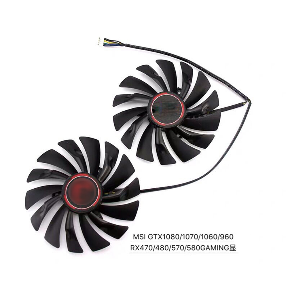 <font><b>4</b></font> pins / 6 pins Cooling Fan for MSI <font><b>RX470</b></font> 480 570 580 GTX1080 1070 1060 960 GAMING Card DC Brushless Fan PLD10010S12HH image