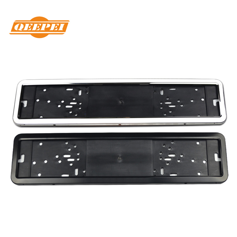 Qeepei European Regulations Russia Ukrainian Stainless Steel Sprayable Black License Plate Frame Iron License Plate Frame carbon fiber automotive license plate frame sgx regulatory license car license plate frame for mini cooper