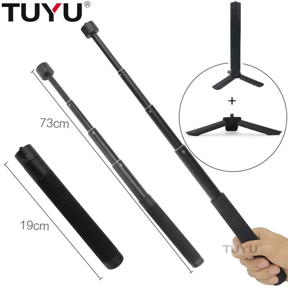 TUYU Telescopic Retractable Extension Rod Selfie Stick For Feiyu  G6 SPG WG2 & Old Version G5 Handheld 3-axis Stabilizer Parts