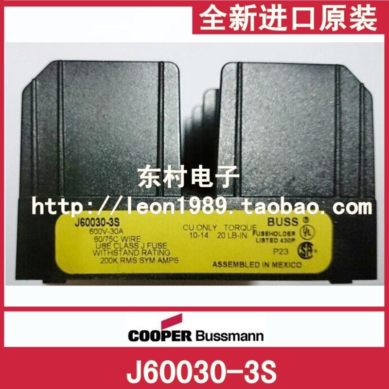 Porte-fusible américain BUSSMANN J60030-3S LPJ-SP applicable série 30A 600V