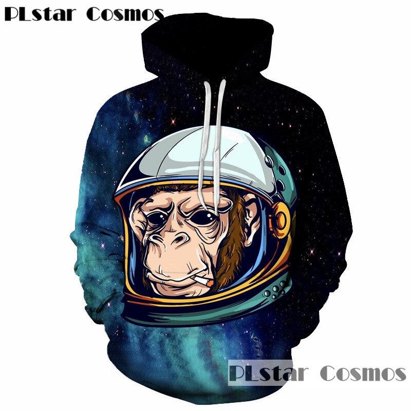 PLstar Cosmos Autumn and spring 2018 New Fashion Sweatshirts Men/Women 3d Hoodies Print Cartoon Hooded Hoodies Pullovers