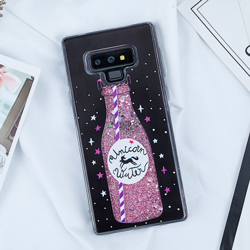 Image 4 - Liquid Quicksand Glitter Case for Samsung Galaxy Note 9 A5 2017 S8 S9 Plus J5 J7 J3 2016 A3 A7 2017 S7 Edge A8 Plus 2018 Covers-in Fitted Cases from Cellphones & Telecommunications