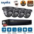 Sannce hd 2.0mp cctv 8ch 1080 p sistema de cftv câmeras de segurança de vigilância de vídeo à prova d' água ao ar livre kit dvr 1 tb hdd