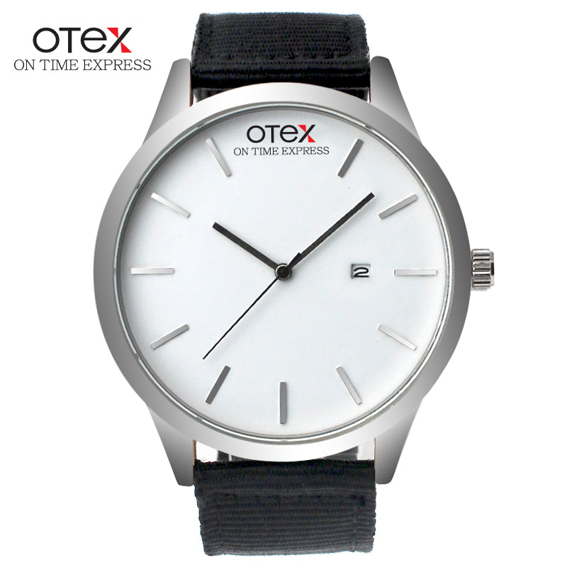 OTEX New Brand Fashion Men Sports Watches Men's Quartz Hour Date Clock Man Leather Strap Military Army Waterproof Wrist watch new 2016 brand skmei watches men fashion casual quartz watch man waterproof sports military leather strap wrist watches