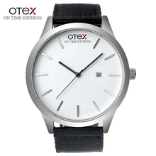 OTEX New Brand Fashion Men Sports Watches Men's Quartz Hour Date Clock Man Leather Strap Military Army Waterproof Wrist watch