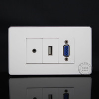 120MM Wall Face Plate 3 5mm Earphone Jack VGA USB Socket Assorted Panel Faceplate