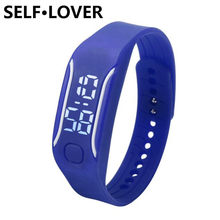 SELFLOVER Mens Womens Rubber Waterproof LED Display Watch Date Time Running Sports Bracelet Digital Wrist Watches Reloj Deporte(China)