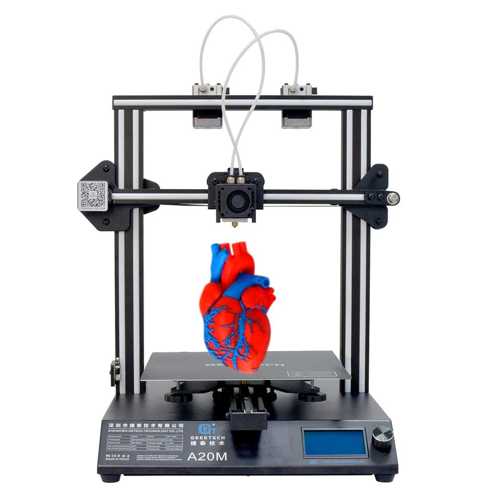 Imprimante 3D GEEETECH A20M avec impression couleur mélangée, Base de bâtiment intégrée et double extrudeuse et détecteur de Filament - 2
