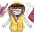 Ms. coral velvet vest Hot new fashion wild cotton vest hooded vest women waistcoat  Sleeveless cotton vest waistcoat