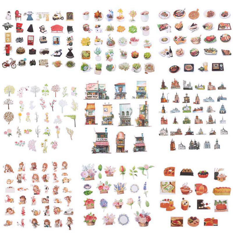 1pcs New Arrival Food/girl Daily Memo Pad Pack Kawaii Planner Scrapbooking Stickers Stationery Escolar School Supplies