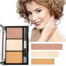 Music Rose Makeup Face Powder Three-color High-gloss Pearl Natural Three-dimensional Blush Repair Capacity