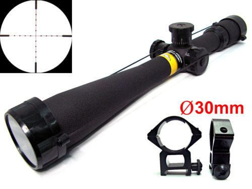 High Quality BSA 8-32x44 Mil-Dot Side Wheel Focus Rifle Scope + Free 30mm Rail Mounts 11mm/20mm Free Shipping New
