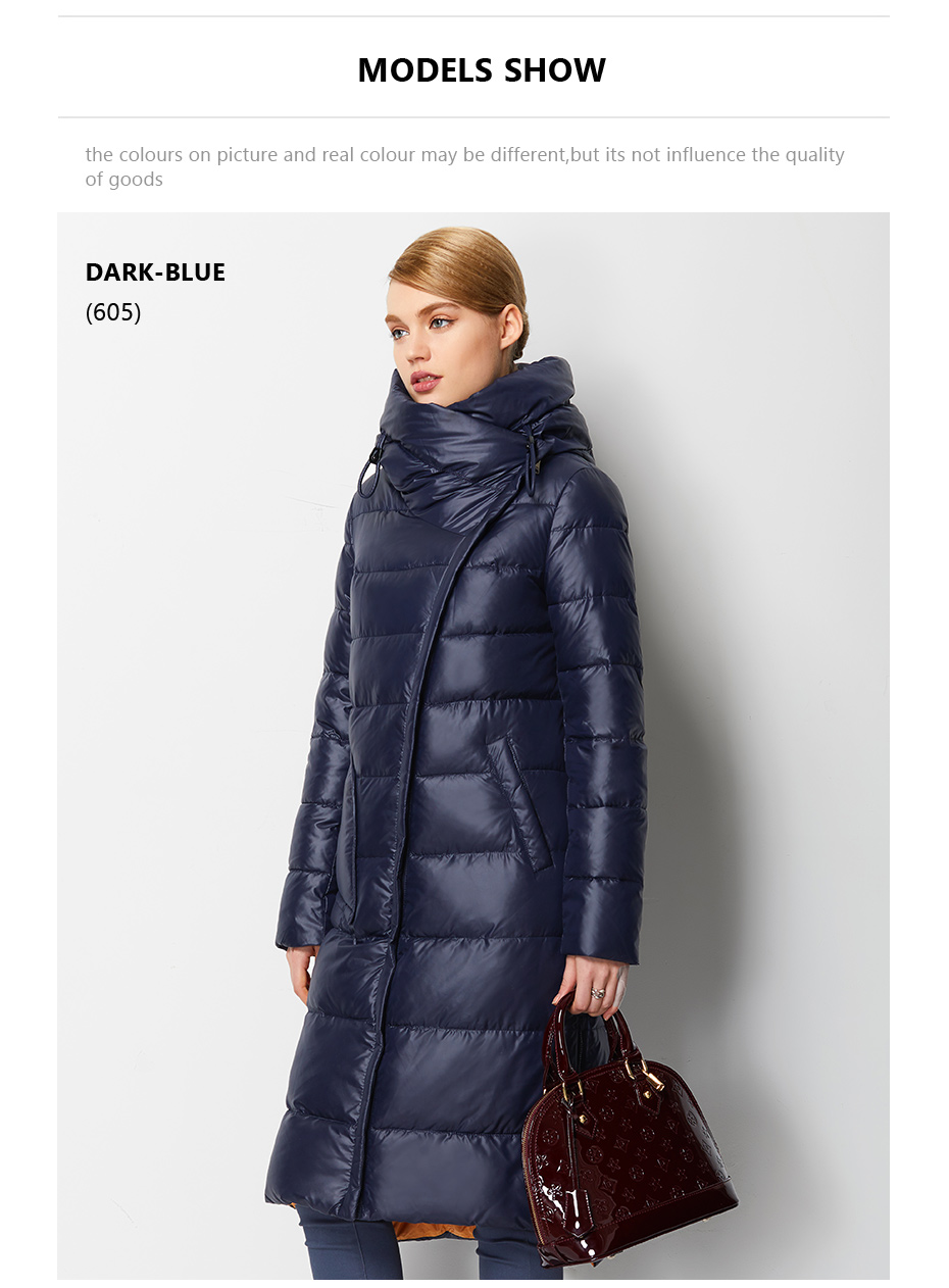 Fashionable Coat Jacket Women's Hooded Warm Parkas Bio Fluff Parka Coat High Quality Female New Winter Collection 16