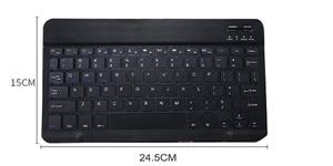 Image 4 - 8/9/10 pulgadas Mini Bluetooth Tastatur Wireless Für iPad Apple iPhone Tablet Android Smart Telefon Windows iOS tragbare Tastatur