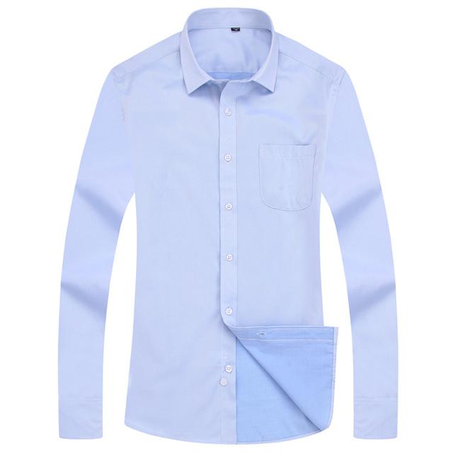 4XL 5XL 6XL 7XL 8XL Large Size Men's Business Casual Long Sleeved Shirt White Blue Black Smart Male Social Dress Shirt Plus