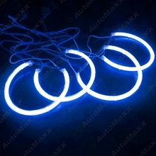 2X131.5mm 2X146mm Blue Car CCFL Halo Rings Angel Eyes LED Headlights for BMW E46(NON projector) Light Kits #J-4174