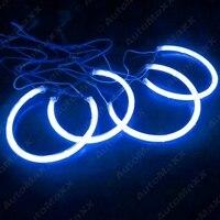 FEELDO Coche Azul CCFL Angel Eyes de Halo Anillos Para BMW E46 (NON proyector) Juegos de luces LED Faros 2X131.5mm 2X146mm # AM4174
