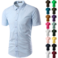 Men's Shirt short Sleeve Slim Fit Camisa Social Masculina Chemise Homme Mens Dress Shirts Clothes Hombre Vestidos Imported 6537