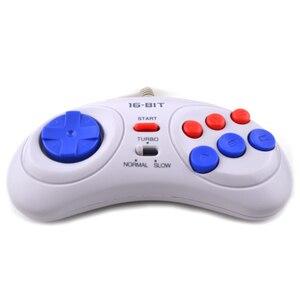 Image 4 - 16 bit Classic Wired Game Controller voor SEGA Genesis 6 Knop Gamepad voor SEGA Mega Drive Modus Snel Langzaam wit